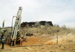 RC drilling, Laterite Hill gold prospect, Burkina Faso