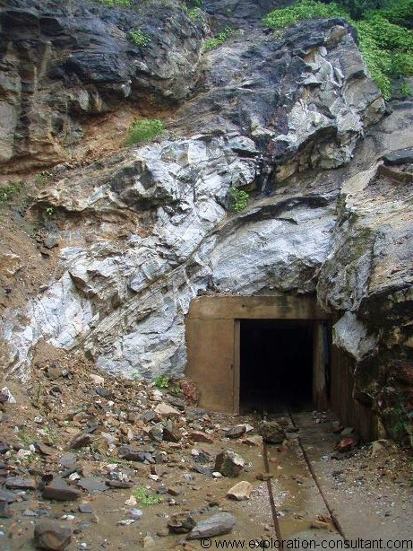 One of the entrances to the mine.