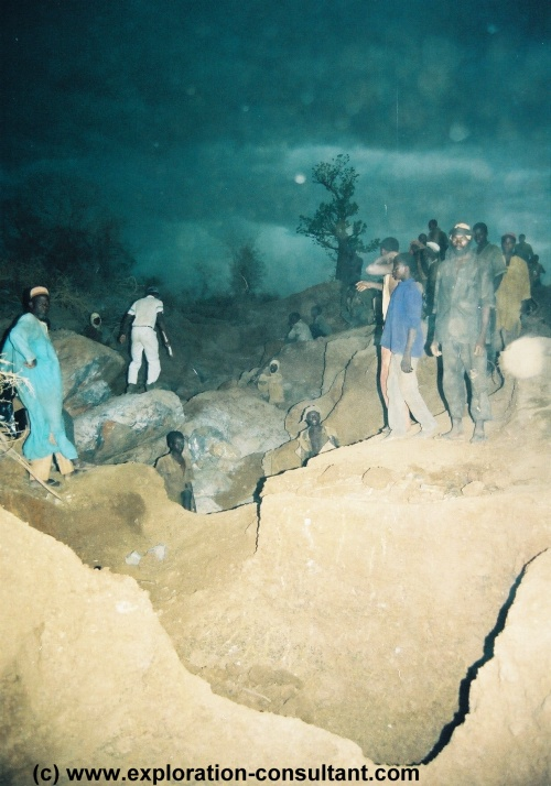 Debba gold mining site, Niger